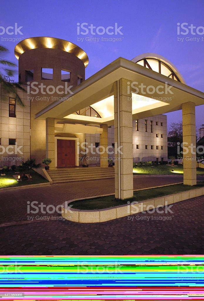 cottage interior log home stock photo