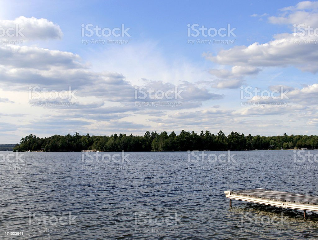 cottage lake royalty-free stock photo