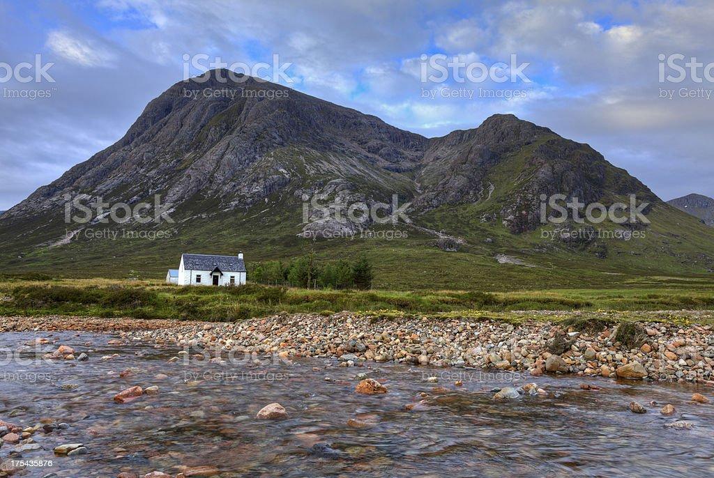 Cottage near Glencoe. stock photo