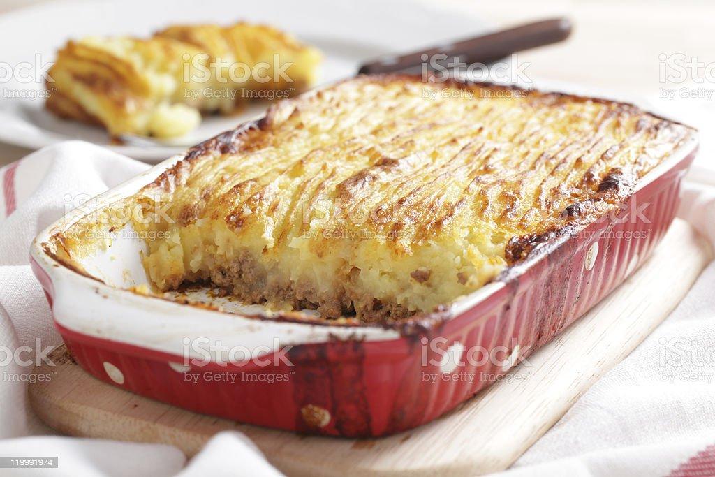 Cottage pie royalty-free stock photo