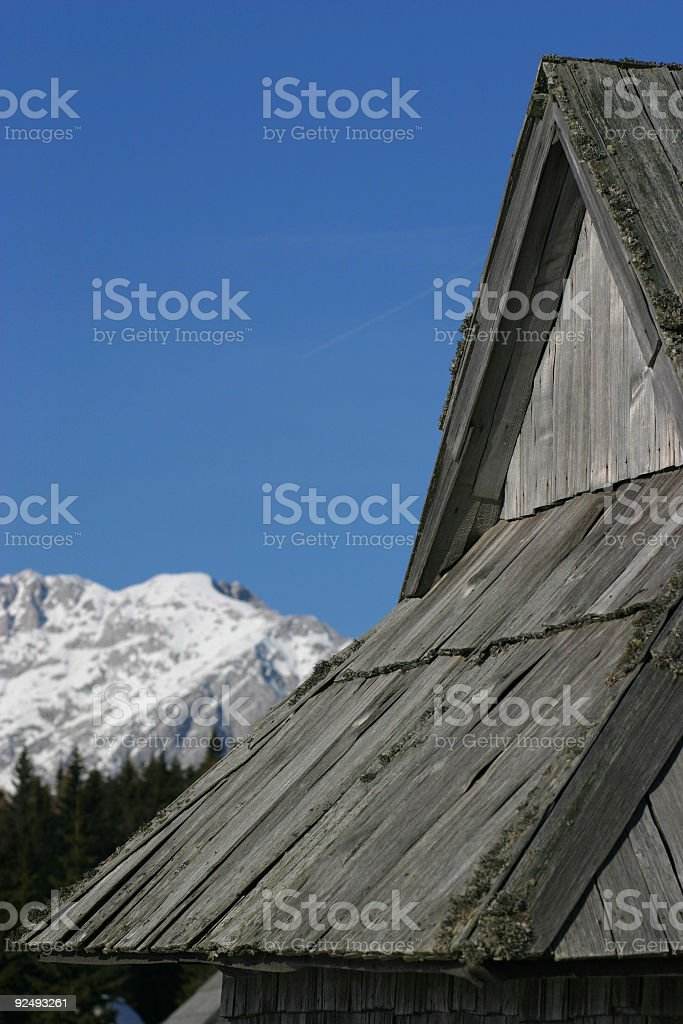 Cottage roof royalty-free stock photo
