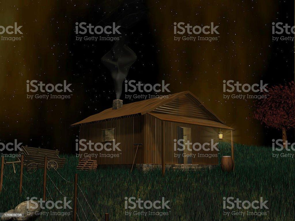 Cottage scene royalty-free stock photo