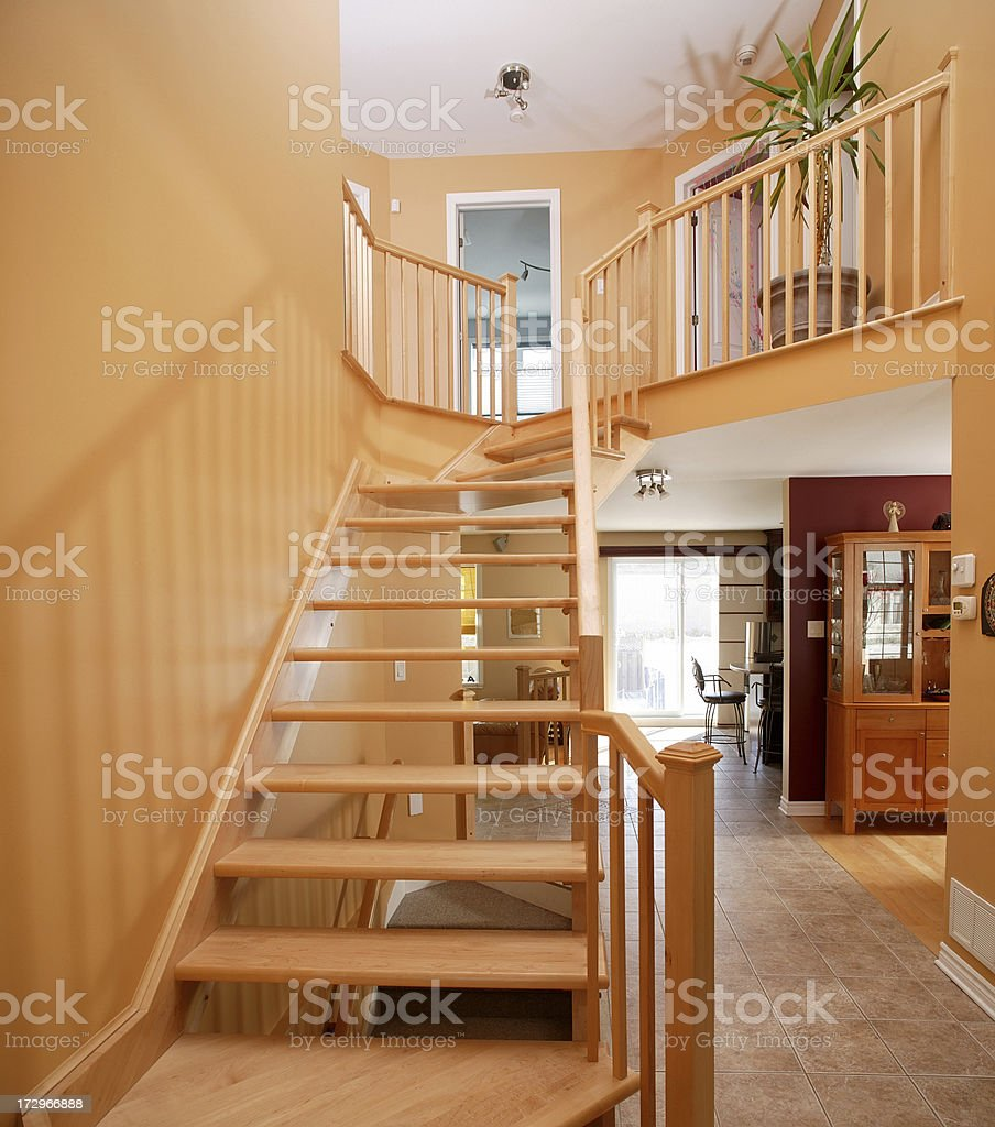 cottage stairway royalty-free stock photo