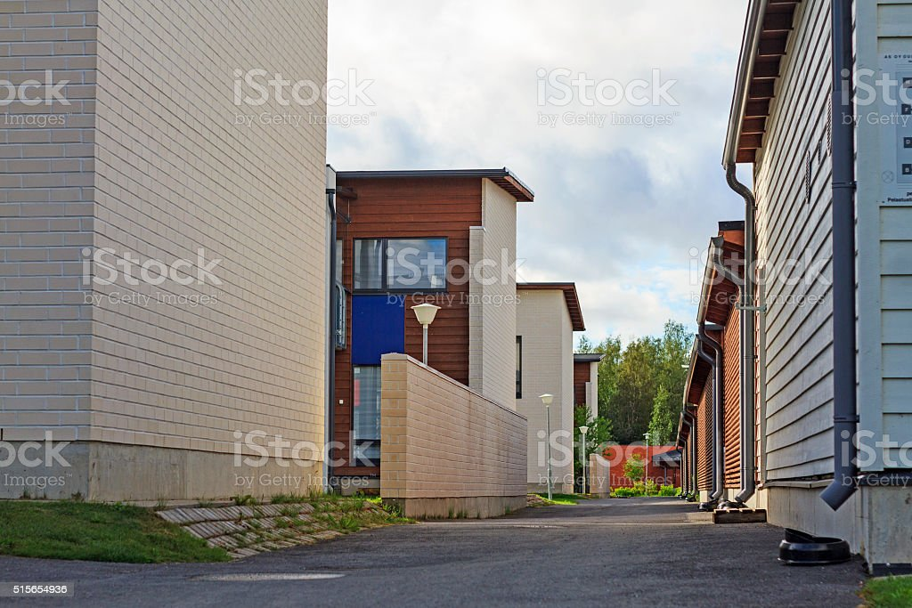 Cottage town and streets stock photo