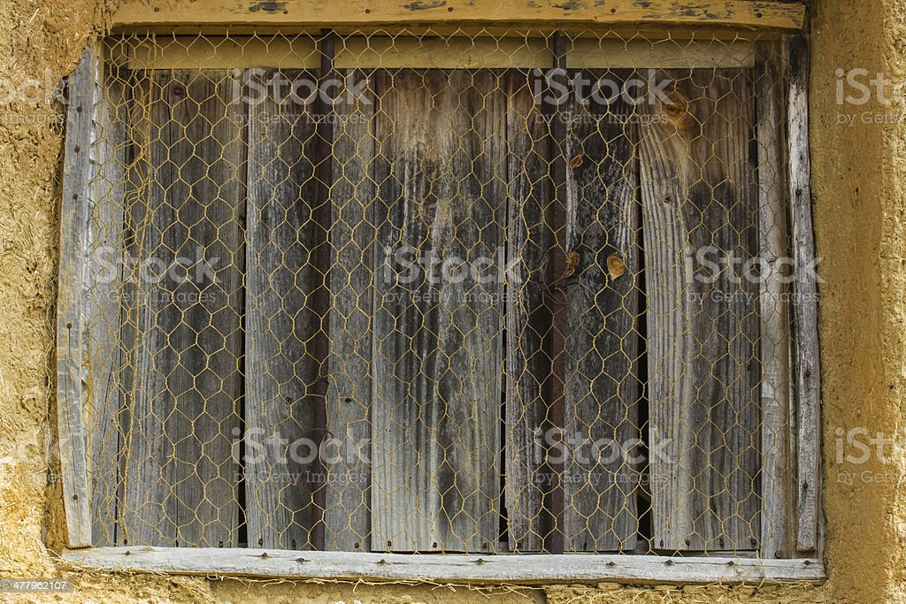Cottage Window and Old - Ventanaa Rural y Vieja royalty-free stock photo