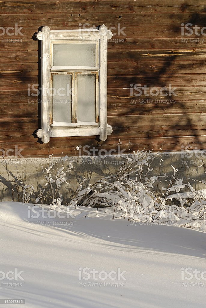 Cottage window royalty-free stock photo