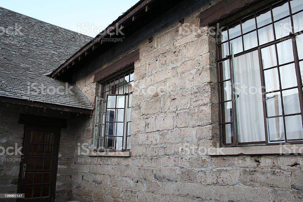 cottage windows 2 royalty-free stock photo