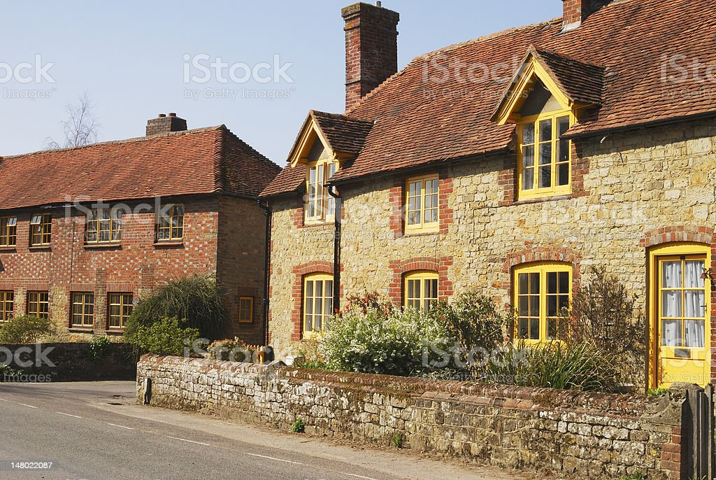 Cottages at Easebourne near Midhurst. Sussex royalty-free stock photo