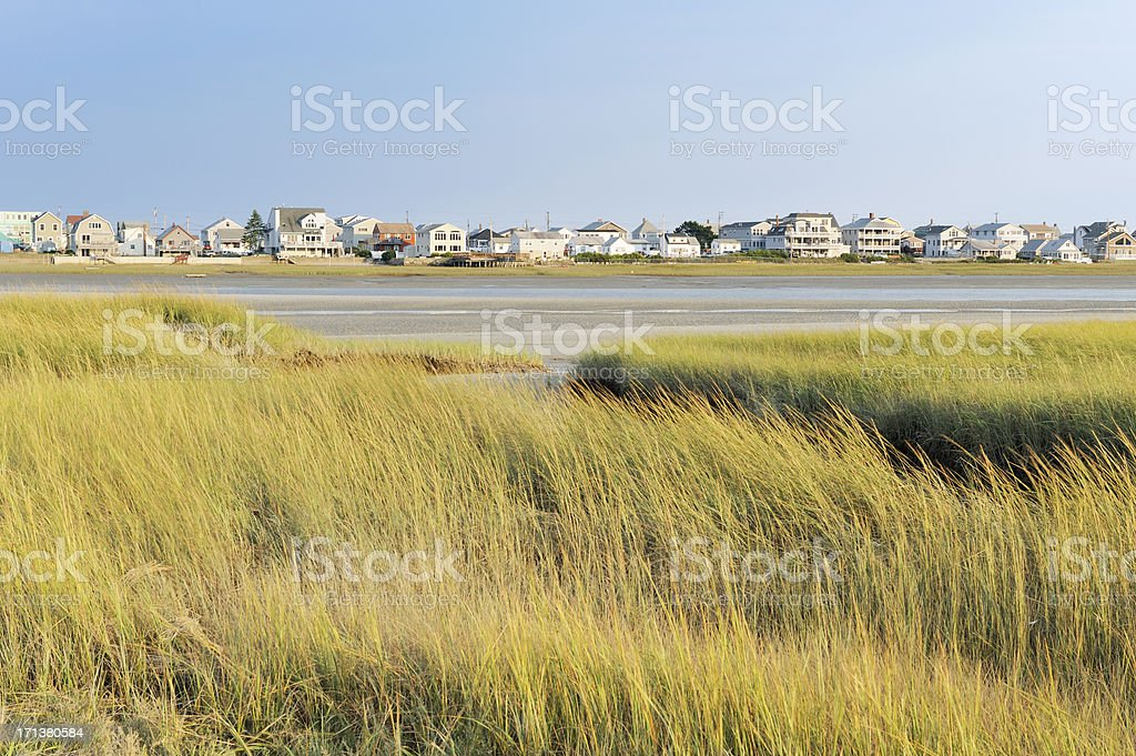 Cottages by the sea stock photo