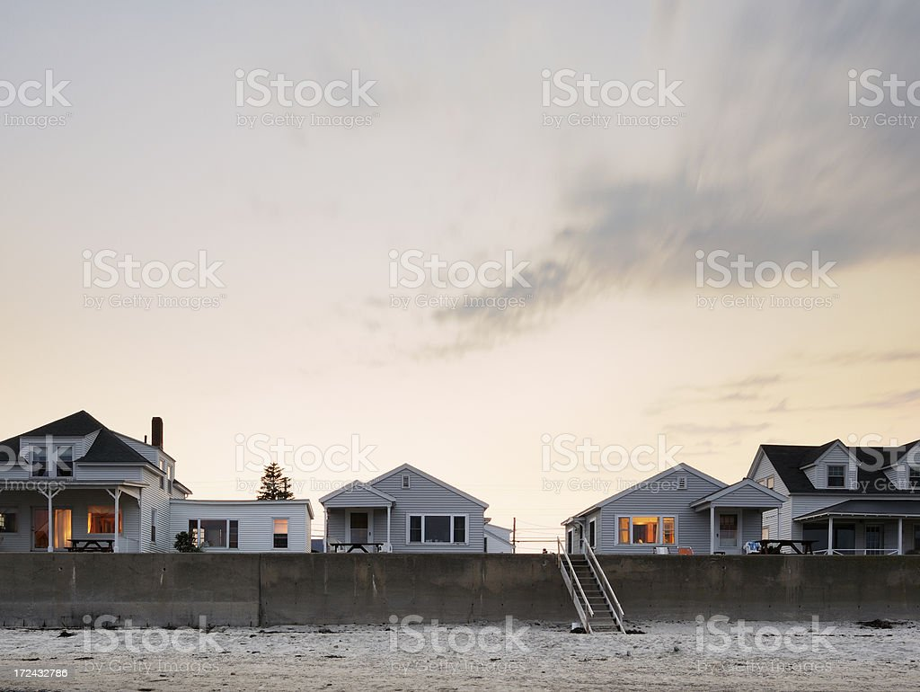 Cottages by the sea royalty-free stock photo
