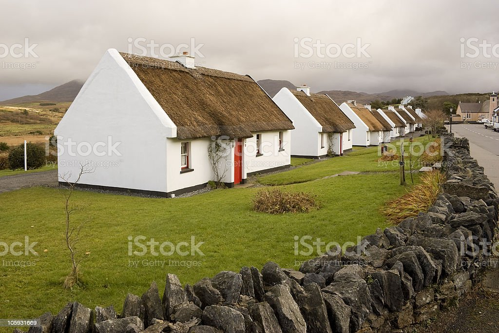Cottages, Galway Ireland stock photo