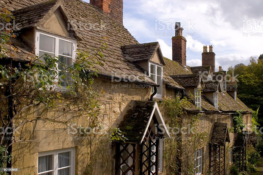 Cottages in a row royalty-free stock photo