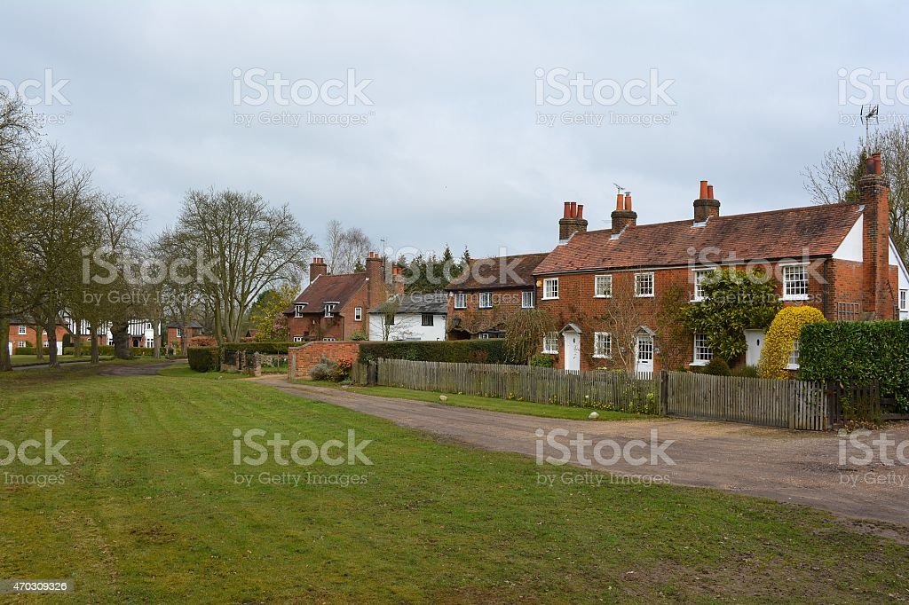 Cottages in Ayot bury, Hertfordshire stock photo