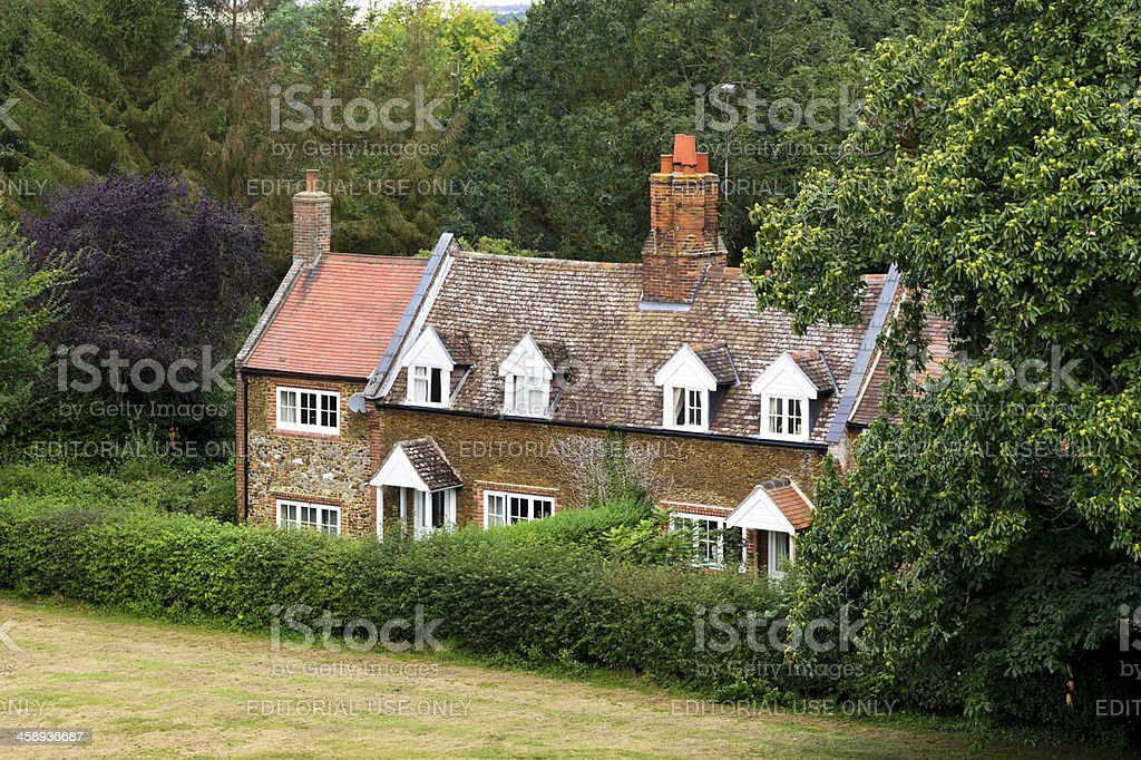 Cottages in Castle Rising, Norfolk royalty-free stock photo