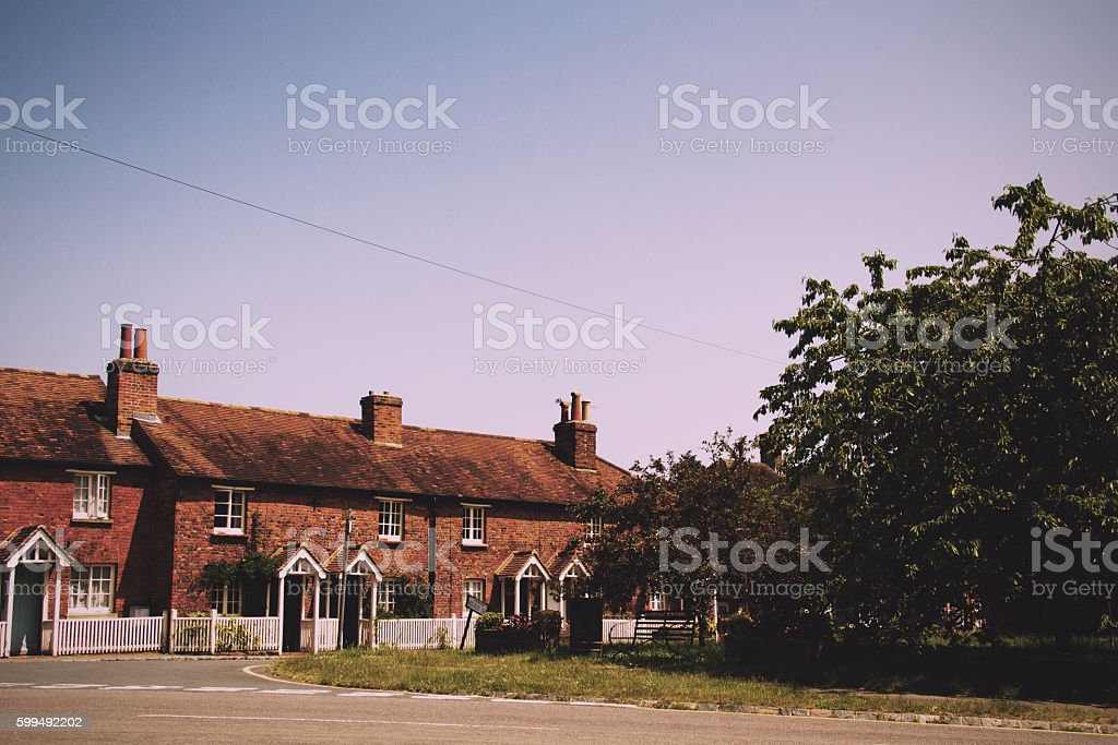 Cottages in the old town in Beaconsield, Buckinghamshire, Englan stock photo