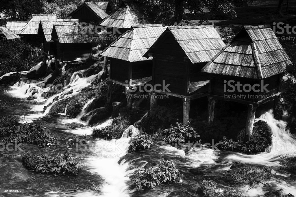 Cottages & Little rivulet royalty-free stock photo