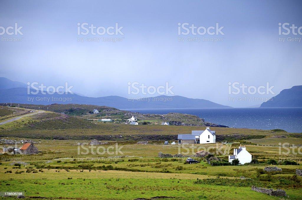 Cottages on the Applecross peninsula, Scotland stock photo