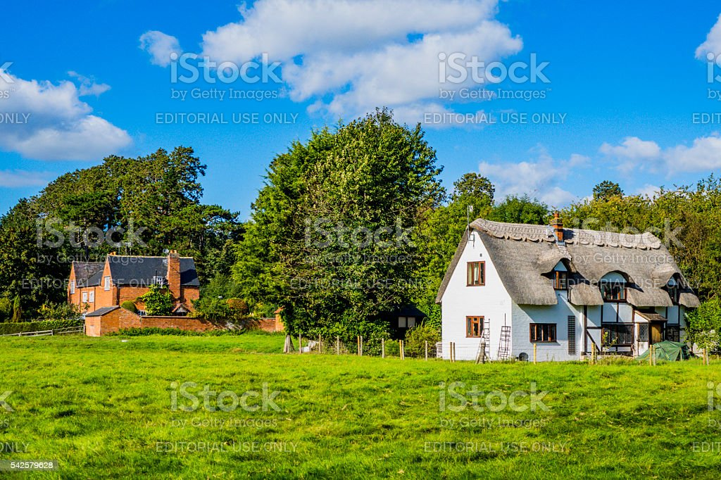 cottages stock photo