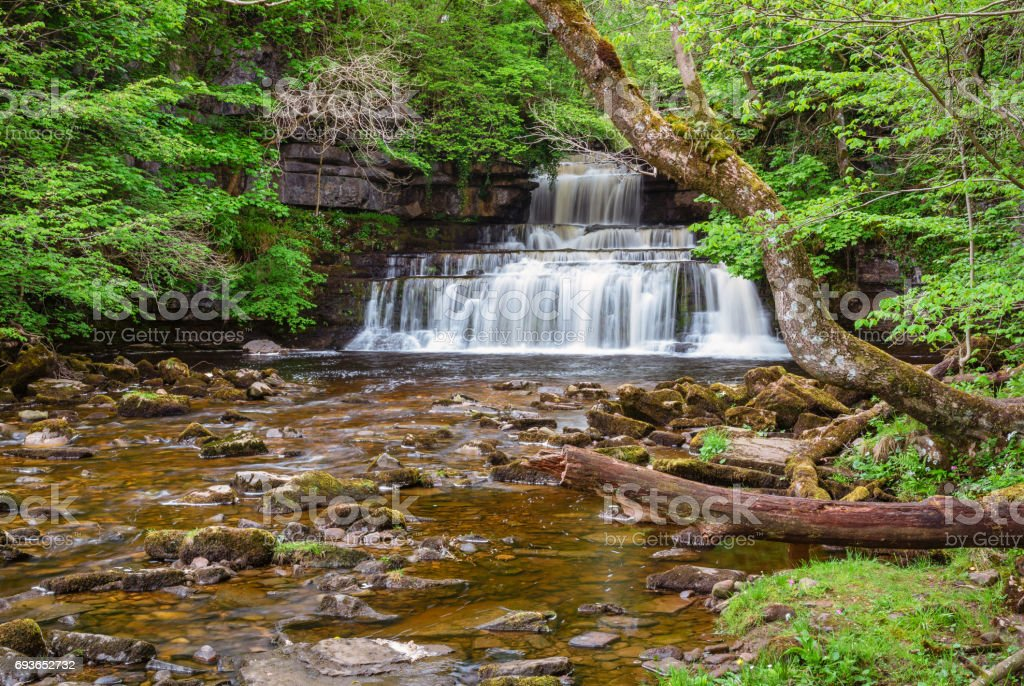 Cotter Force and Cotterdale Beck stock photo