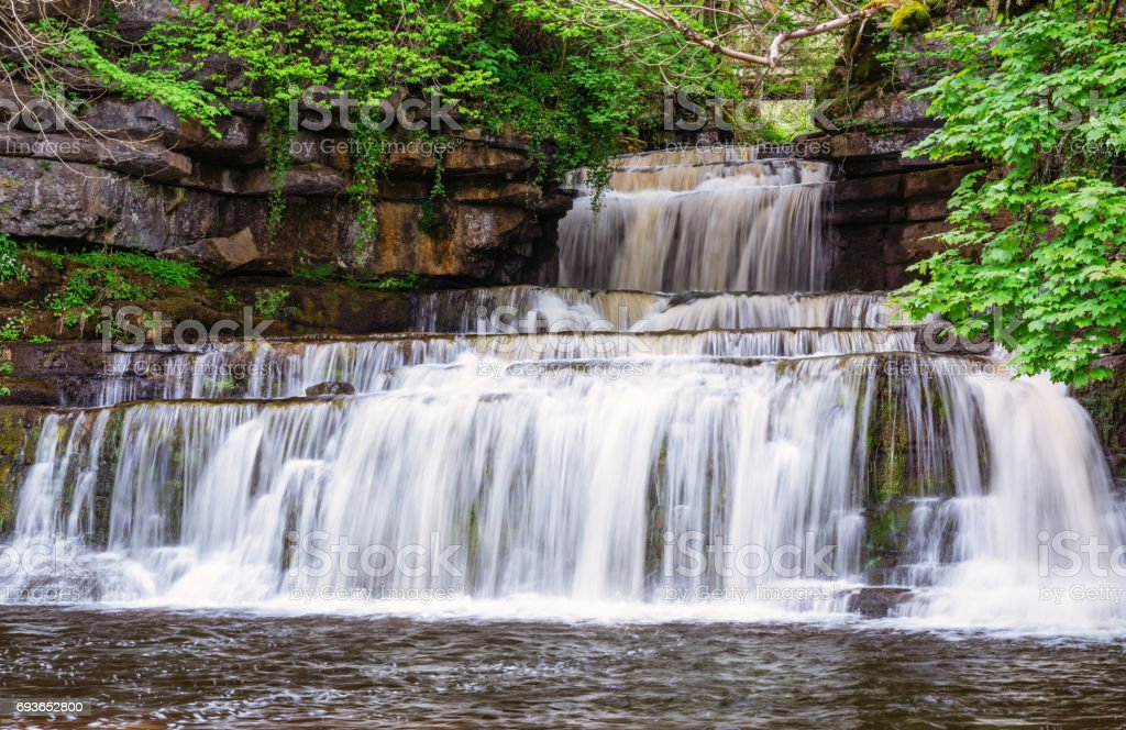 Cotter Force Waterfall stock photo
