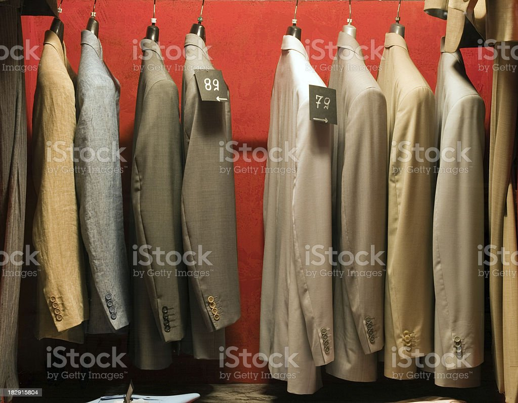 Cotton and linen men's jackets stock photo