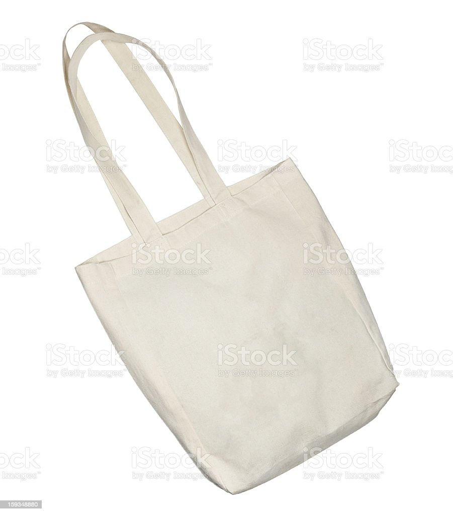cotton bag isolated royalty-free stock photo