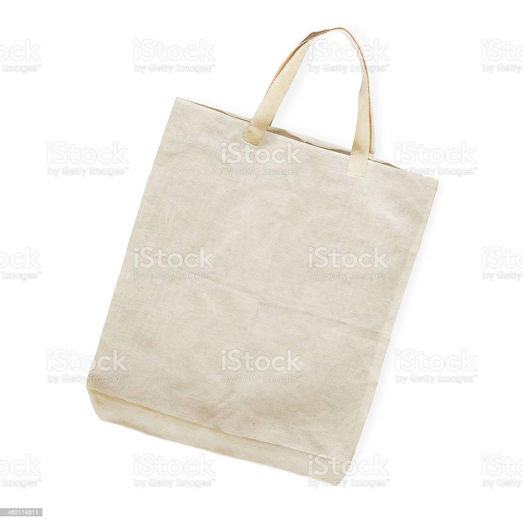 cotton bag on white isolated background stock photo