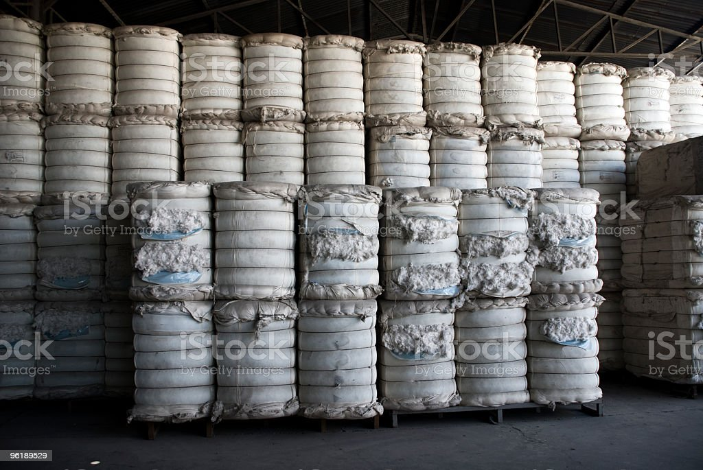 Cotton Bails stock photo