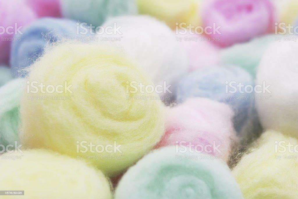 Cotton Balls. royalty-free stock photo