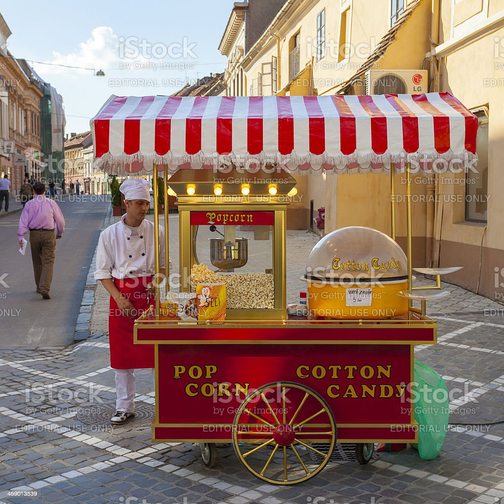 Cotton Candy and Popcorn, Brasov stock photo