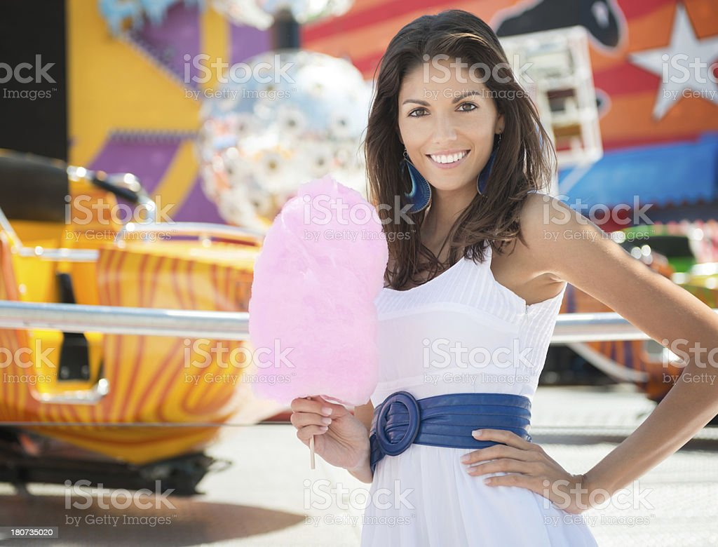 Cotton Candy Beauty, Amusement Park royalty-free stock photo