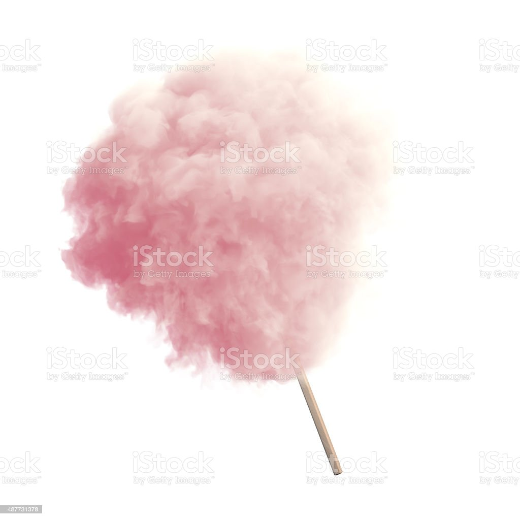 Cotton candy isolated stock photo