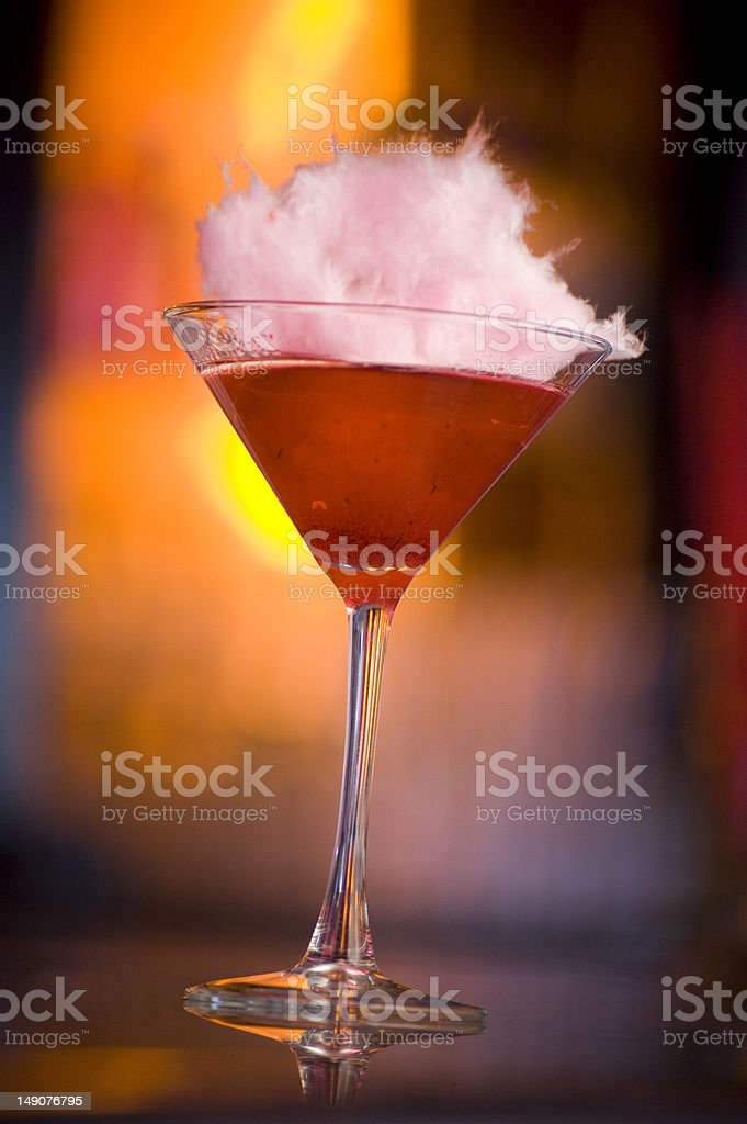 Cotton Candy Martini stock photo