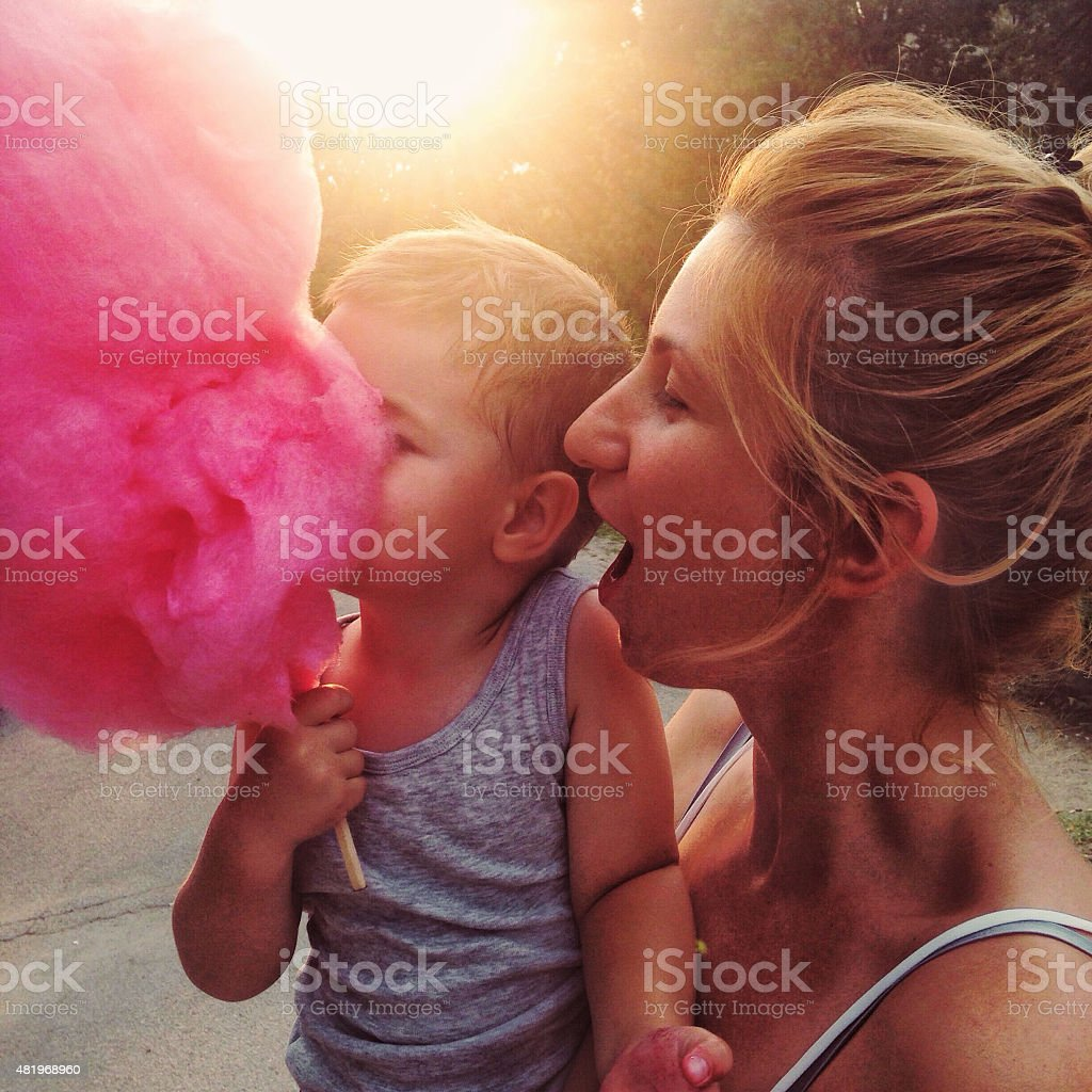 Cotton candy stock photo