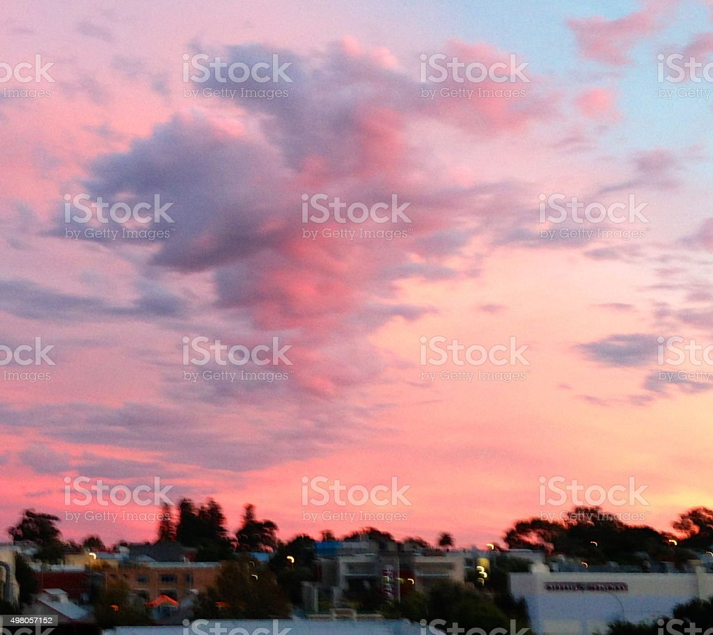 Cotton Candy Sky stock photo