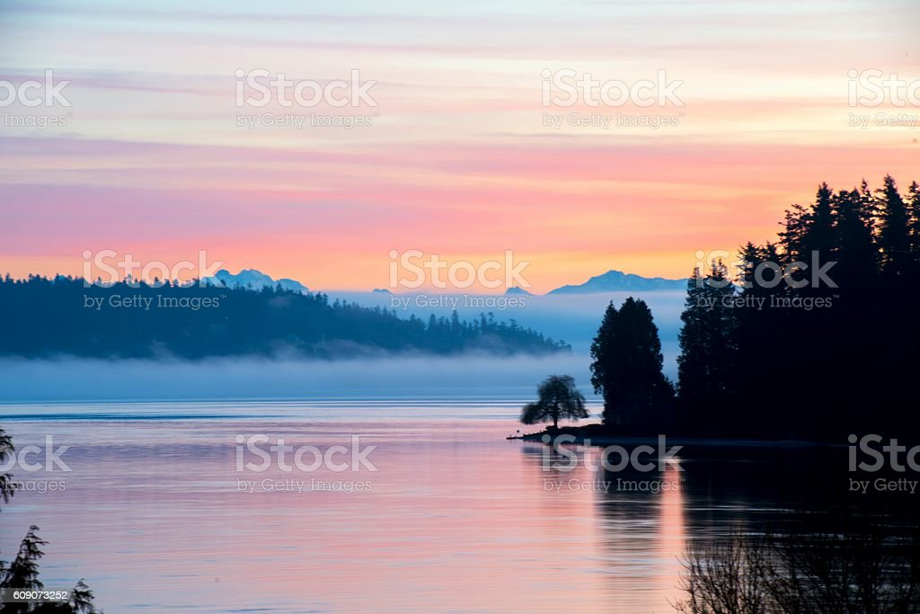 Cotton Candy Sunrise stock photo
