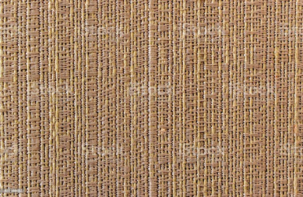 Cotton fabric pattern, vertical lines, beige color, closeup stock photo