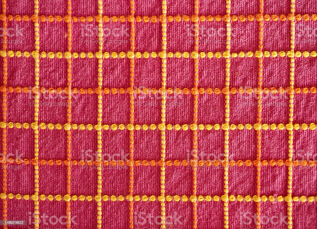 Cotton  fabric with pink background royalty-free stock photo