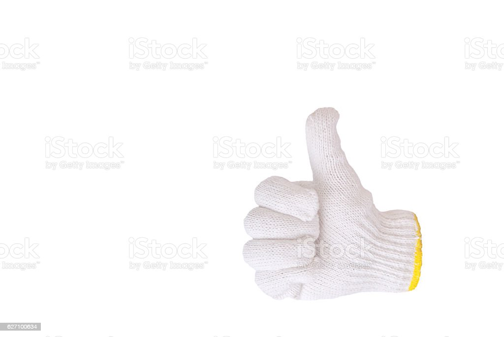 cotton gloves , good symbol stock photo