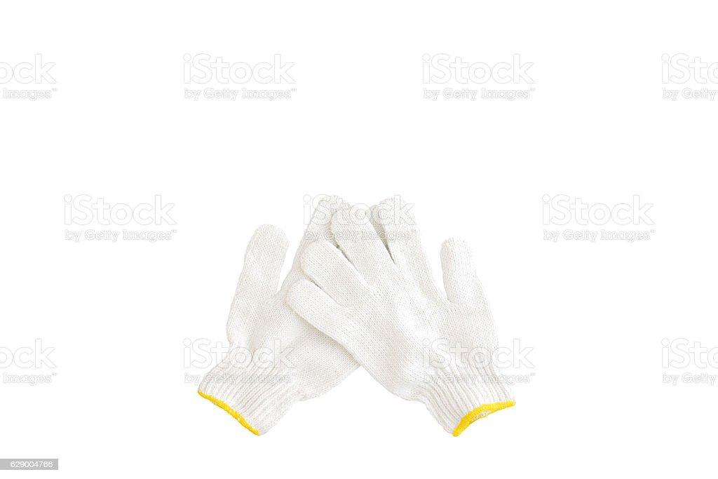 cotton gloves isolated on white background stock photo