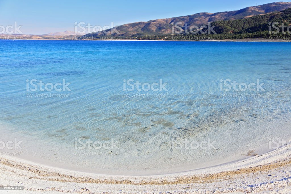 Cotton Lake, Salda Lake stock photo