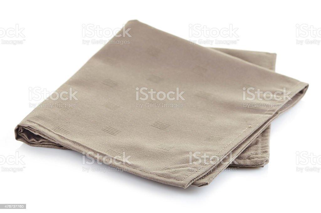 Cotton napkin stock photo