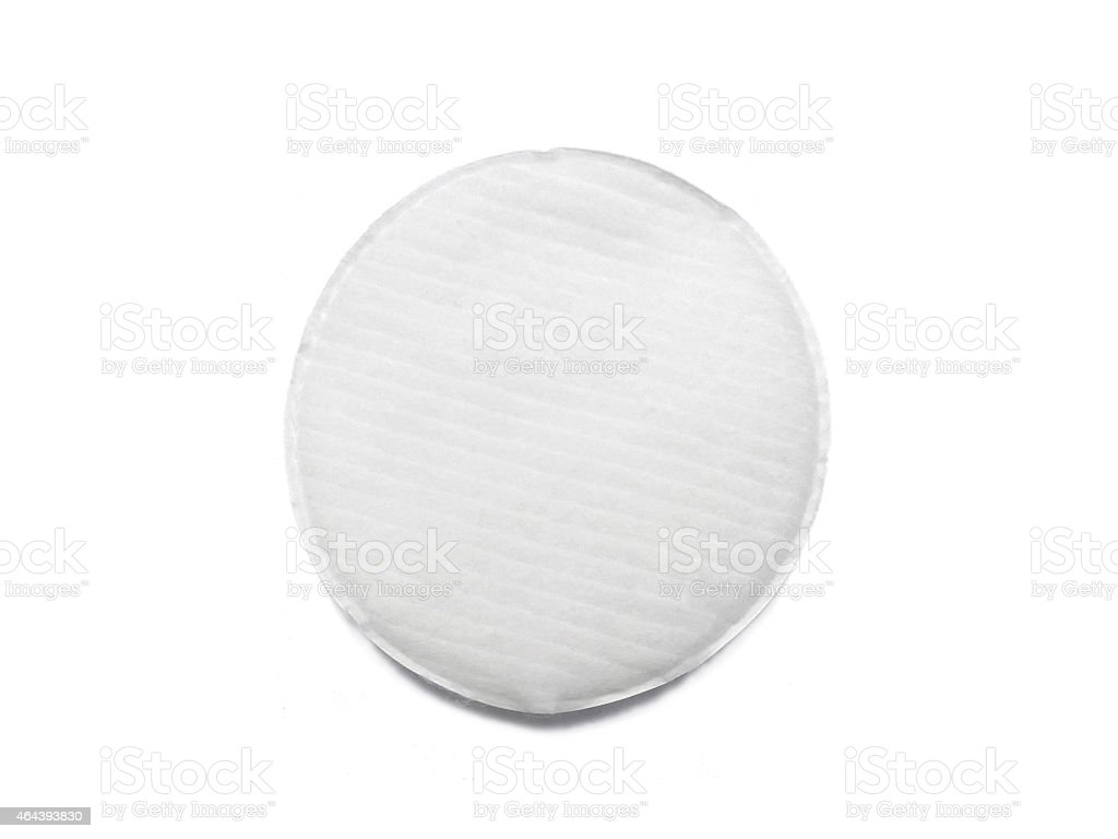Cotton pad isolated on white stock photo