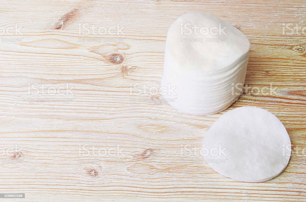 Cotton pads, hygiene. stock photo