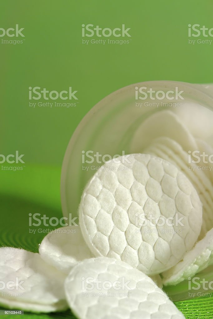 Cotton pads royalty-free stock photo