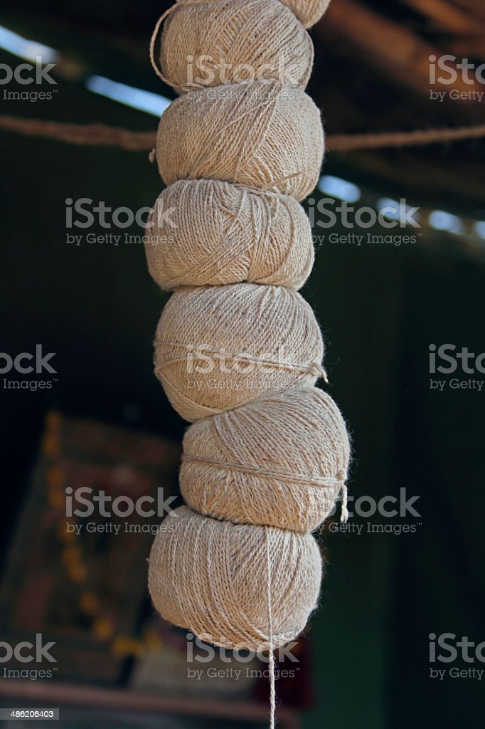 Cotton spools stock photo