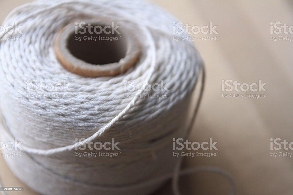 Cotton string stock photo