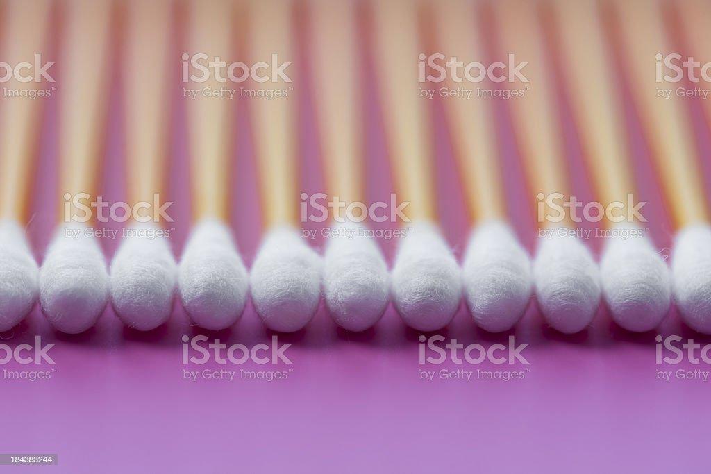 Cotton swabs royalty-free stock photo