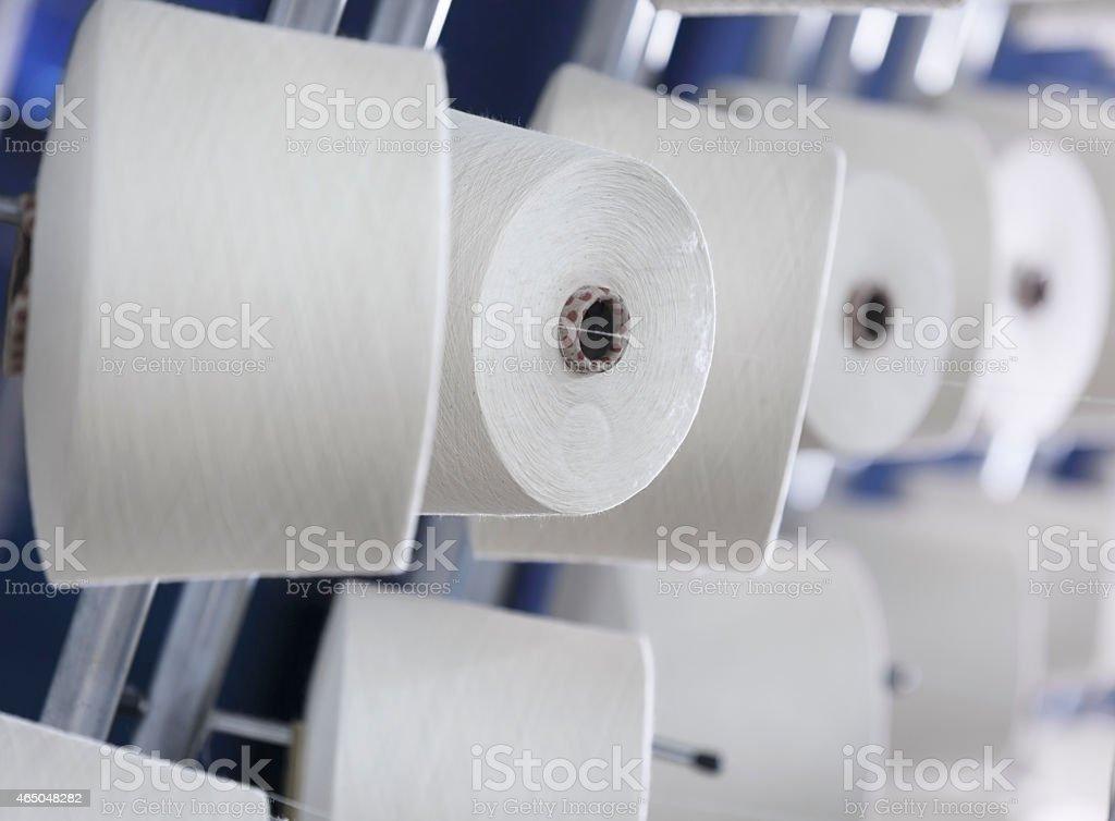 cotton yarn cones stock photo