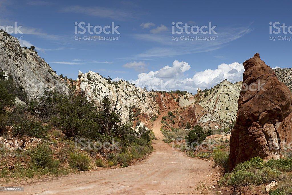 cottonwood canyon stock photo
